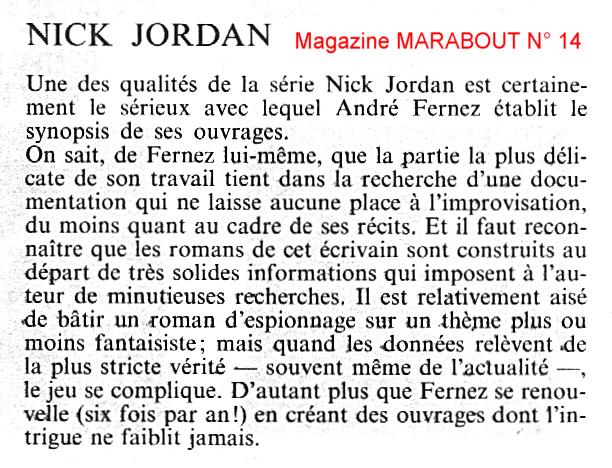 Extrait du magazine Marabout n°14